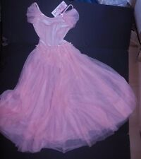 NWT Body Wrappers Dance Dress Long Skirted Leotard Pink Girls int 6x-7 # 2099