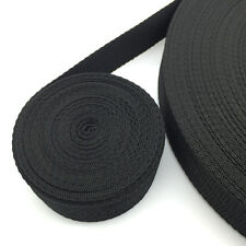 New Hot 10 Yards Length 38mm Wide Black Strap Nylon Webbing Strapping #NS40
