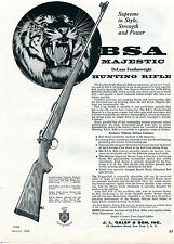 1960 Print Ad of JL Galef & Son BSA Majestic DeLuxe Featherweight Hunting Rifle