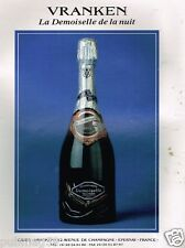 Publicité Advertising 1993 Champagne Demoiselle Vranken