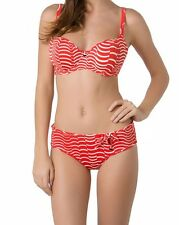 FREYA BIKINI SET ST LOUIS 38E XL/16-18 PADDED SWEETHEART TOP/SHORT RED/WHITE NEW