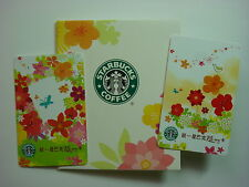 2010 Starbucks Taiwan #59#60~ FLORA EXPO CARD/ MATCHING SLEEVE