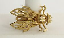 VINTAGE Jewelry 60s 70s FIGURAL FLY INSECT BROOCH