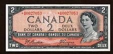 BANK OF CANADA 1954 $2 BEATTIE COYNE REPLACEMENT NOTE *A/B0027053 CH-UNC