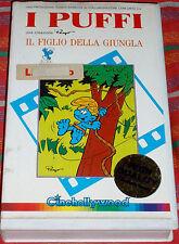 VHS CARTOON CARTONI ANIMATI 80-I PUFFI/IL FIGLIO DELLA GIUNGLA  the smurfs,smurf