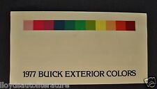 1977 Buick Paint Chip Colors Brochure Regal Century LeSabre Electra Riviera 77
