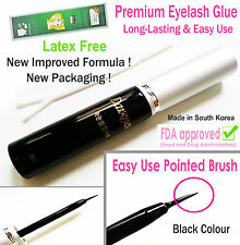 BEST forte BLACK FALSE EYELASH GLUE COLLA PER CIGLIA FINTE-LATEX FREE | UK