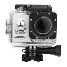Action Camera Mini  SJ7000 Silver Outdoor Waterproof Cam 1080P HD Sports DV 2.0""