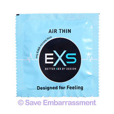 48 EXS AIR THIN CONDOMS - Thinnest Latex Condoms in the World - Fast Shipping