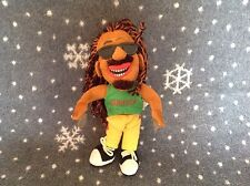 "RASTAMAN JAMAICA SOFT PLUSH TOY 9.5"" TALL EXCELLENT CONDITION"