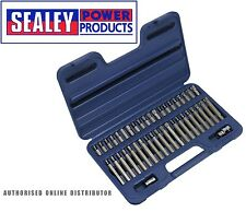 "Sealey AK219 TRX-Star/Spline/Hex Bit Set 42pc 3/8"" & 1/2""Sq Drive"