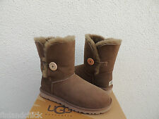 UGG DRY LEAF BAILEY BUTTON SUEDE/ SHEEPSKIN BOOTS, WOMENS US 11/ EUR 42 ~NIB