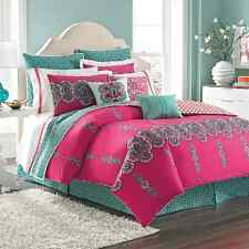 LAUNDRY BY SHELLI SEGAL SHIVA, FULL QUEEN DUVET COVER PINK MAGENTA TURQUOISE