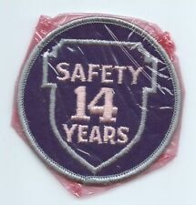 Greyhound Bus, driver patch, 14 Safety Years. 3 inch diameter