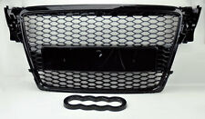 Audi A4 S4 B8 09-12 RS Style Gloss Black Mesh Front Hood Bumper Grill