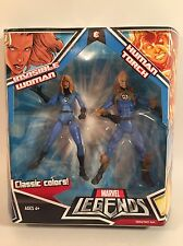 "2008 MARVEL LEGENDS FANTASTIC FOUR 2 PACK INVISIBLE WOMAN HUMAN TORCH 6"" FIGURES"