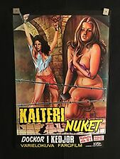 Barbed Wire Dolls RARE 1975 Finnish Movie Poster Sexploitation Bad Girl Adult