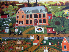 "500 Piece  Art Puzzle ""Pig and Pumpkin Inn""  New 18""x 24"""