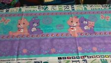 2008~  CARE BEARS  STRIPE ~  fabric 9x36