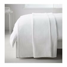 New Ikea Throw Rug Bedspread Blanket Bed Couch 100% Cotton 150x250cm White