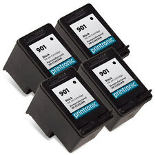 Ink Cartridge for HP OfficeJet J4580 G510n J4680c - HP 901 Black CC653AN 4 Pack