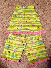 Girls Flap Happy Summer Capri Outfit Size 4