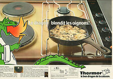 Publicité 1982  ( Double page )  THERMOR table de cuisson extra-plate