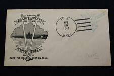 NAVAL COVER 1944 FREE FRANK  WORLD WAR 2 COMMISSION USS BARBERO (317) (2815)