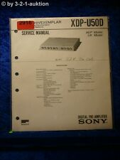 Sony Service Manual XDP U50D Digital Pre Amplifier (#2916)