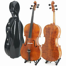 Cecilio CCO-600 4/4 Full Size or 3/4 Flamed Ebony Cello Outfit