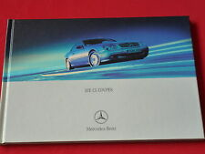 MERCEDES C215 CL Coupes CL 500 CL 600 Hardcover Prospekt  von 2000