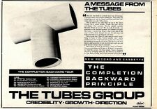 2/5/81PGN26 ADVERT: THE TUBES THE COMPLETION BACKWARD PRINCIPLE 7X11