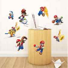 Games Super Mario Bros Vinyl Art Wall Stickers Decal Mural Kids Nursery Decor UK