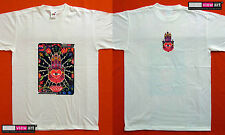 HAMSA HAND Mens T-shirt Psychedelic UV Black Light Glow-in-the-dark Fluorescent