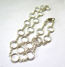10mm O-RING ORIGINAL SOLID .925 STERLING SILVER NECKLACE 42cm adjustable