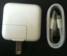 OEM Apple 12 Watt 2.4 Amp USB Charger + 1M Original Lightning Cable For iPad