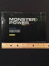 Monster Power HTS1000 HTS2000 HTS2000CI 1000CI Original Owners Manual 32 Pages