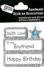 Joyeux anniversaire avec amour boyfriend Bricolage Carte de vœux Toppers