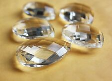 20 LOT CRYSTALS FACETED GLASS PRISMS FOR CHANDELIER LAMP PART 1.5'' PENDANTS