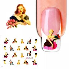 J277 NAGELSTICKER Damen Frauen PIN UP GIRL  water transfer Fingernagel Nagel Nai
