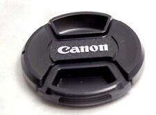 new Canon 55mm front lens cap Snap on Center Pinch FREE SHIPPING WORLDWIDE