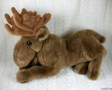 Cascade Toy Brown Plush Sitting Moose w Antlers Stuffed Animal SO SOFT 14""