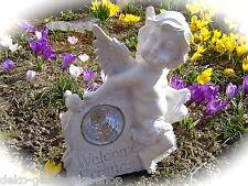 Solaire conduit de lumière Jardin séance Ange avec Inscription Welcome bienvenue