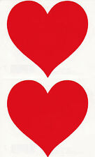 Mrs. Grossman's Giant Stickers - Red Heart - Large Classic Heart - 2 Strips