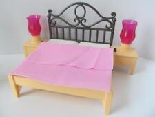 Playmobil Dollshouse/Grand mansión muebles: Cama con lámparas de luz-Up Nuevo