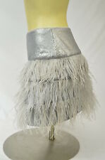 BEBE skirt feather medium 190218 isis sequin skirt silver