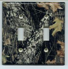 Mossy Oak Break Up Double Light Switch Plate Cover Camo
