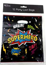 36 boys SuperHero PARTY BAG LOOT BAGS empty birthday Set large KIDS CHILDREN