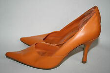 """Select Womans Shoes Orange Pointed Toe Pump D'Orsay High Heels 3,5"""" Size 4/37"""