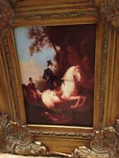 Country French Oil Painting-French Aristocrat On Horse
